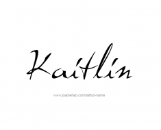 tattoo-design-name-kaitlin-01