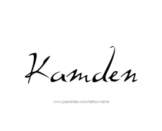 tattoo-design-name-kamden-01