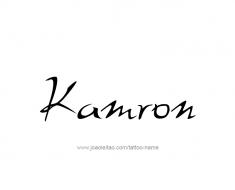 tattoo-design-name-kamron-01
