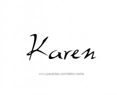 tattoo-design-name-karen-01