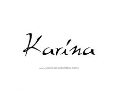 tattoo-design-name-karina-01