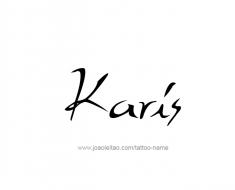 tattoo-design-name-karis-01