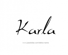 tattoo-design-name-karla-01