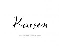 tattoo-design-name-karsen-01
