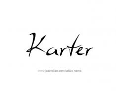 tattoo-design-name-karter-01