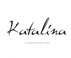 tattoo-design-name-katalina-01