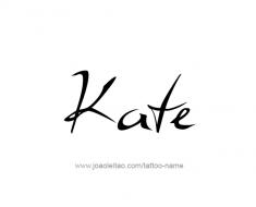 tattoo-design-name-kate-01