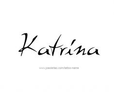 tattoo-design-name-katrina-01