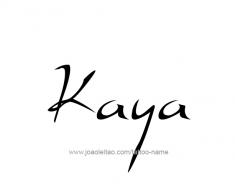 tattoo-design-name-kaya-01