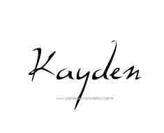 tattoo-design-name-kayden-01