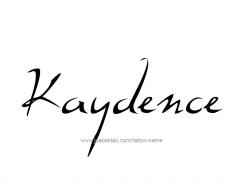 tattoo-design-name-kaydence-01