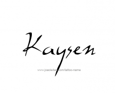 tattoo-design-name-kaysen-01