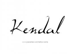 tattoo-design-name-kendal-01