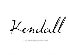 tattoo-design-name-kendall-01
