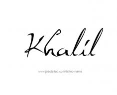 tattoo-design-name-khalil-01