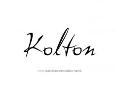 tattoo-design-name-kolton-01