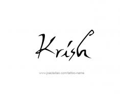 tattoo-design-name-krish-01