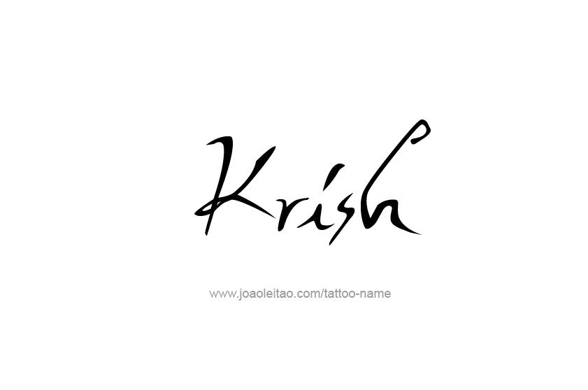 Krish Name Tattoo Designs