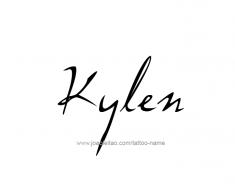 tattoo-design-name-kylen-01