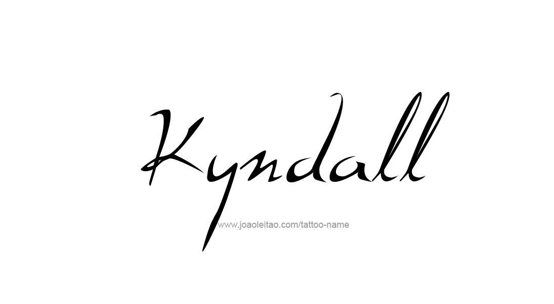 Kyndall Name Tattoo Designs