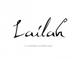 tattoo-design-name-lailah-01