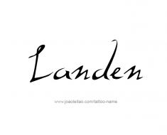 tattoo-design-name-landen-01