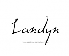 tattoo-design-name-landyn-01