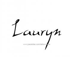 tattoo-design-name-lauryn-01
