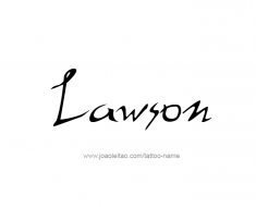 tattoo-design-name-lawson-01