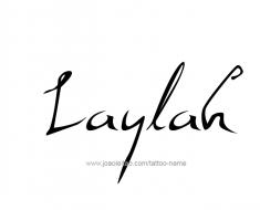 tattoo-design-name-laylah-01