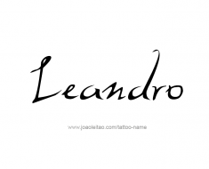tattoo-design-name-leandro-01