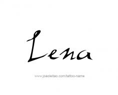 tattoo-design-name-lena-01