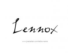 tattoo-design-name-lennox-01