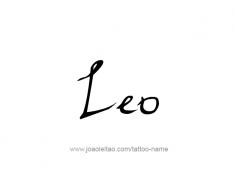 tattoo-design-name-leo-01