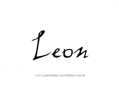 tattoo-design-name-leon-01