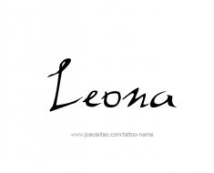 tattoo-design-name-leona-01