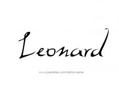 tattoo-design-name-leonard-01