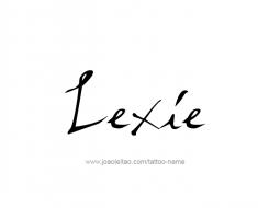 tattoo-design-name-lexie-01