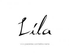 tattoo-design-name-lila-01
