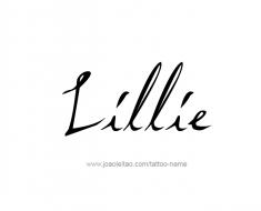 tattoo-design-name-lillie-01