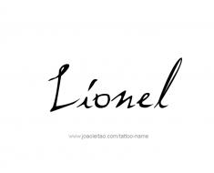 tattoo-design-name-lionel-01