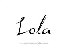 tattoo-design-name-lola-01