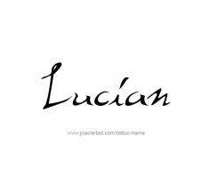 tattoo-design-name-lucian-01