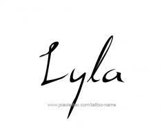 tattoo-design-name-lyla-01