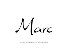 tattoo-design-name-marc-01