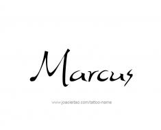 tattoo-design-name-marcus-01
