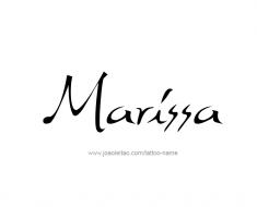 tattoo-design-name-marissa-01