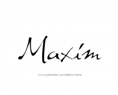 tattoo-design-name-maxim-01