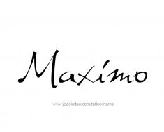 tattoo-design-name-maximo-01