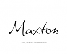tattoo-design-name-maxton-01